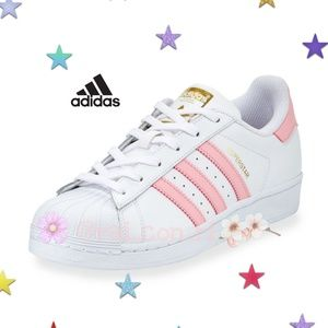 Adidas Superstars Pink/White